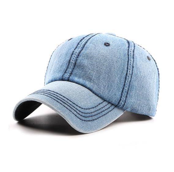 huateng Sombrero de vaquero gorra de hombre Sombrero de béisbol de algodón  lavado a mano Gorro de mujer ajustable  Amazon.es  Ropa y accesorios 83b2e8772dd