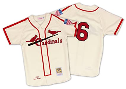 22d1f1cf2d1 Stan Musial St. Louis Cardinals Mitchell   Ness Authentic 1944 Button Up  Jersey