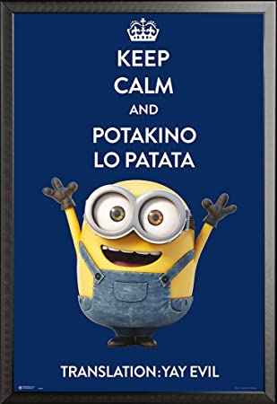 Poster Minions keep calm and potakino lo patata