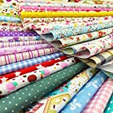 Image of flic-flac 50pcs 12 x 12 inches (30cmx30cm) Cotton Craft Fabric Bundle Squares Patchwork Lint DIY Sewing Scrapbooking Quilting Dot Pattern Artcraft