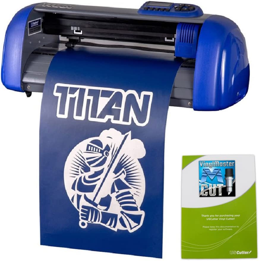 USCutter 15-inch Table Titan Craft Vinyl Cutter with VinylMaster Cut - a Design and Cut Software