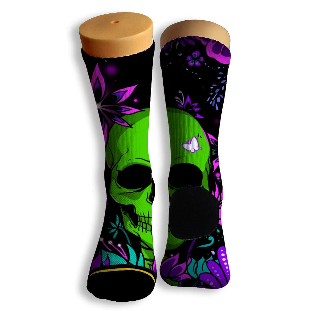 Basketball Soccer Baseball Socks by Potooy Skeleton Patterned 3D Print Cushion Athletic Crew Socks for Men Women