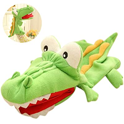 Hand Puppet Cartoon Lovely Crocodile Plush Puppet Storytelling Toy for Kids: Everything Else
