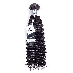 "Debe Hair Deep Curly Brazilian Hair 1 Bundle 8a Hair Weave Extensions 100% Unprocessed Virgin Hair (12"" weft)"