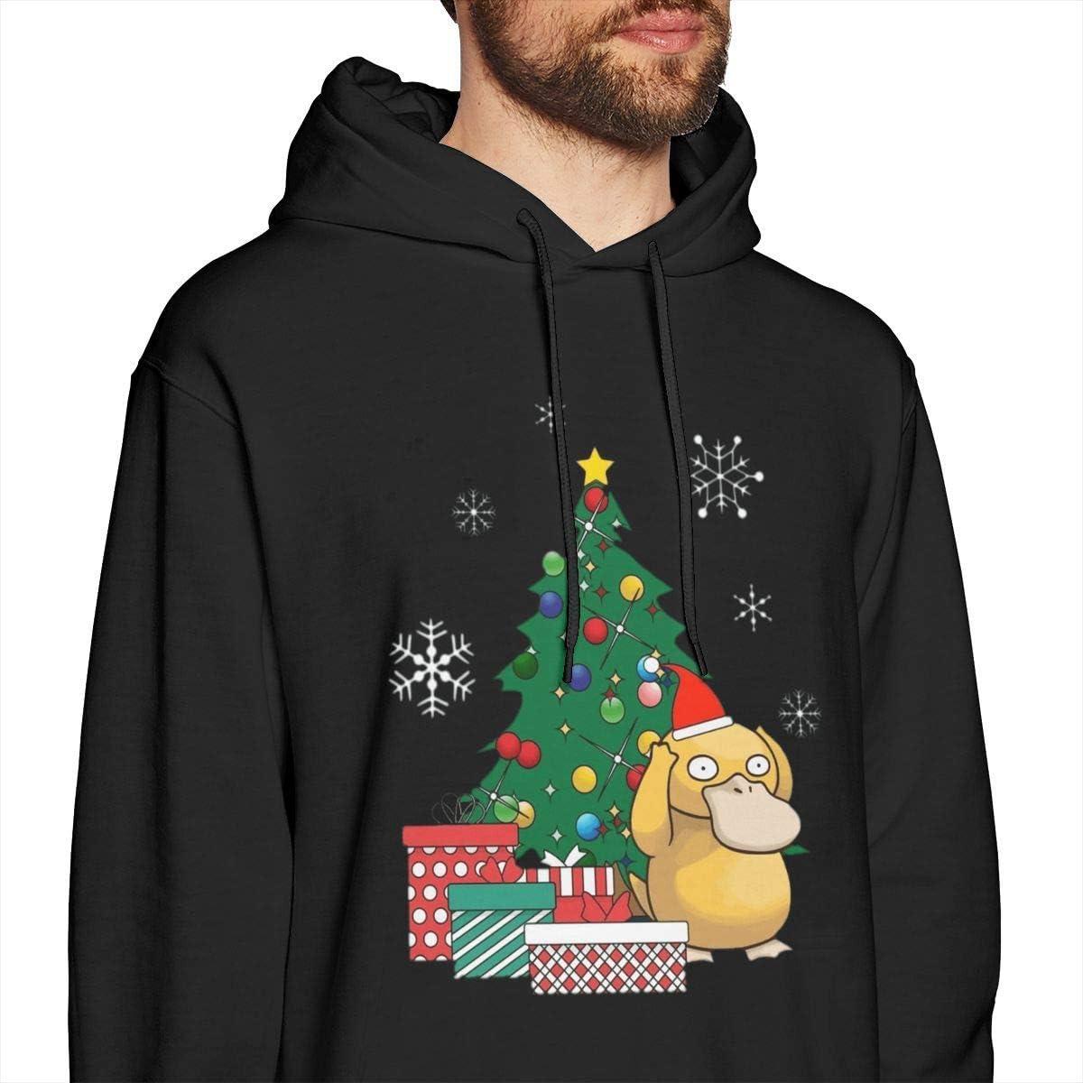 shotngwu Snorlax Around The Christmas Tree Mens Pullover Hoodies Crewneck Long Sleeve Sweatshirt Black Xx-large style2