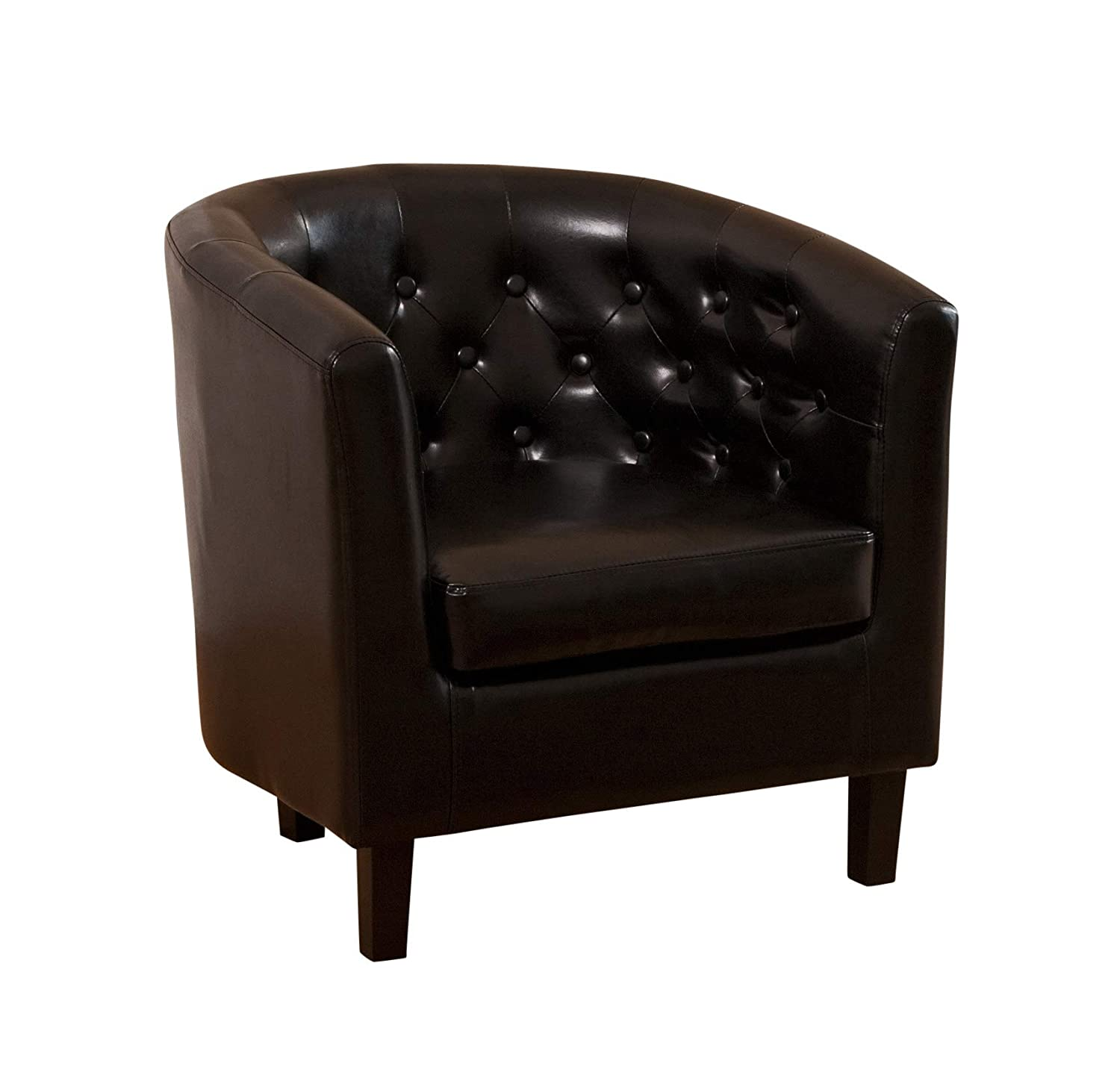 Sofa Collection Chesterfield Style Beauvais Tub Chair with Studded Back, Bonded Leather, Brown, 70 x 76 x 73 cm 5060363581207