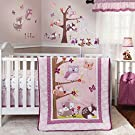Lavender Woods 4 Piece Baby Crib Bedding Set with Bumper by Bedtime Originals