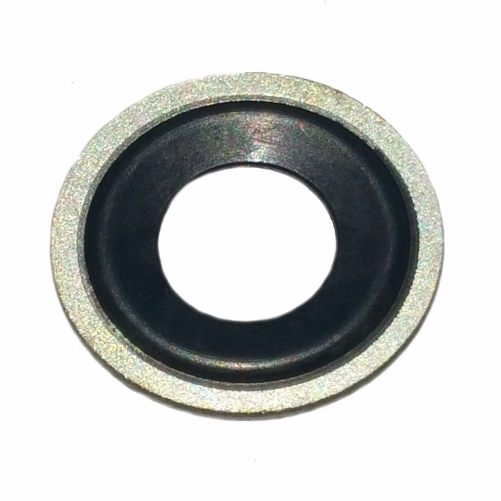 "Buy Auto Supply # BAS03500 (100 Count) M12 1/2"" Metal Rubber Oil Drain Plug Gasket Aftermarket Replacement for 097-021, 65274 GM 14079550, 24571185 (24.7mm O.D/11.5mm I.D)"