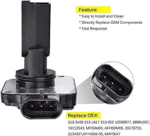 Mass Air Flow Meter Sensor MAF 213-3428 19112543 Compatible With Buick LeSabre Chevy Camaro Impala Oldsmobile Pontiac Bonneville 3.8L 3Pin