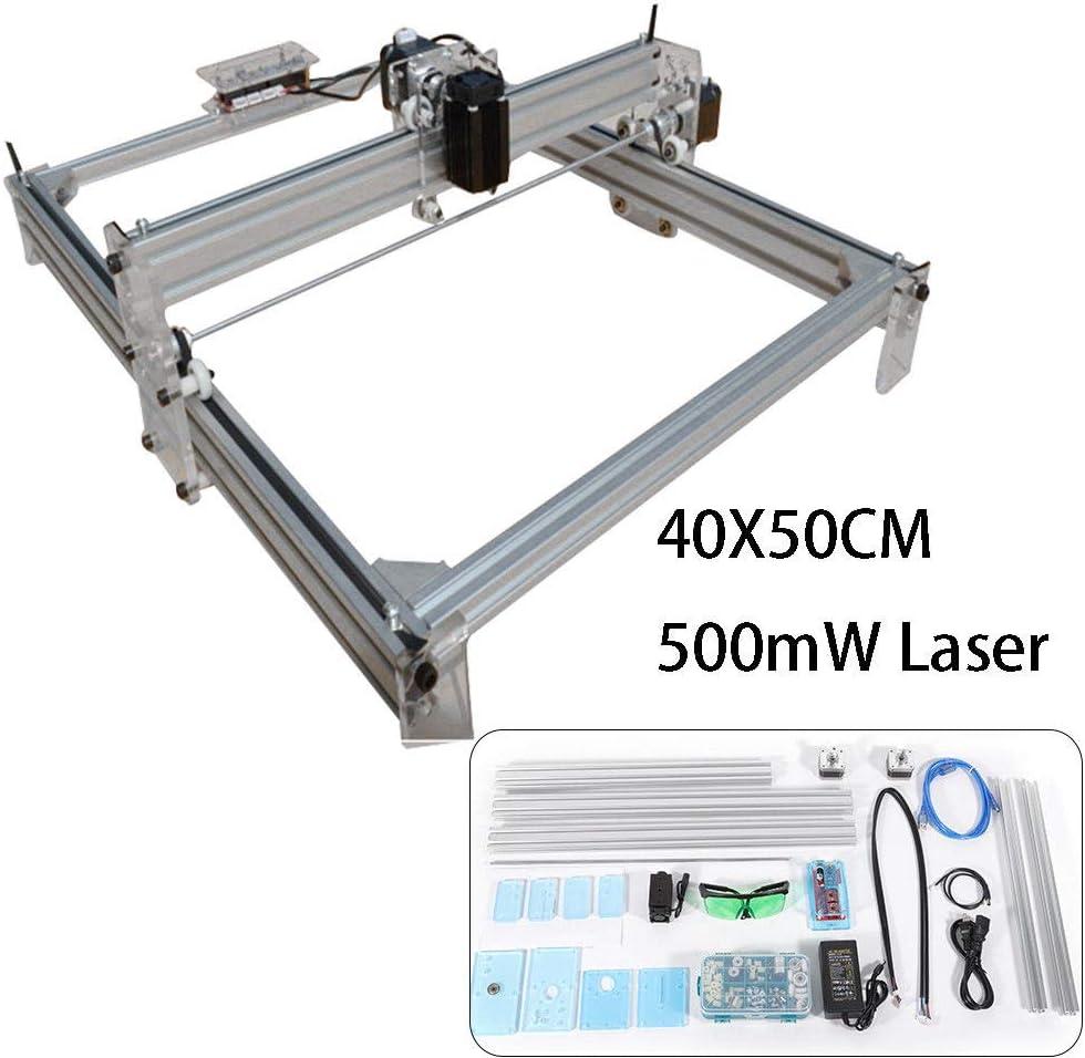 Grabador L/áser de Escritorio 500 mw de escritorio DIY M/áquina de grabado l/áser Grabadora CNC Carver Impresora l/áser con gafas protectoras para tallar corte y grabado