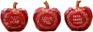 WAIT FLY Lovely Fruit Shaped Resin Desktop Decoration Home Accessories Knick Knacks Ornaments, Gift of Christmas Eve/New Year/Holiday for Lovers Friends Kids, Set of 3