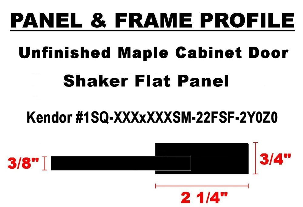 19H x 16W Unfinished Maple Shaker Cabinet Door by Kendor