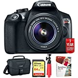 Canon EOS Rebel T6 DSLR Camera with EF-S 18-55mm is II Lens Kit (1159C003) + 1 Year Extended Warranty with 64GB Deluxe Bundle