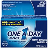 One-A-Day Men's Health Formula Dietary Supplement, 100-Count Bottles (Pack of 2)