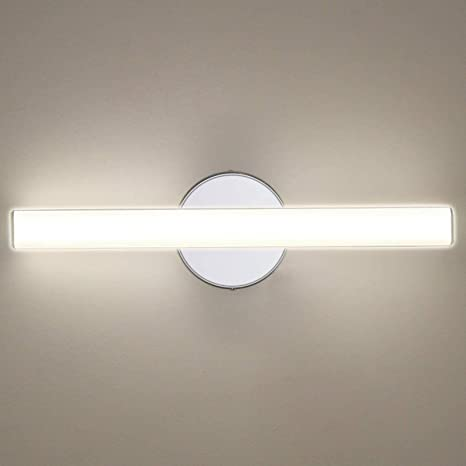 Amazon Com Oowolf Led Vanity Lights 12w 17 3in Led Mirror Front Light 4000k 1200lm Bathroom Lighting Fixture Wall Lamp Make Up Mirror Front Light Natural White Home Improvement