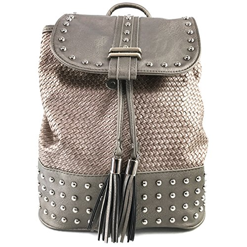 Rhinestone Western Backpack Carry Conceal West Purse Pewter Top Leather Handle Trendy Justin 1gwxatqHq
