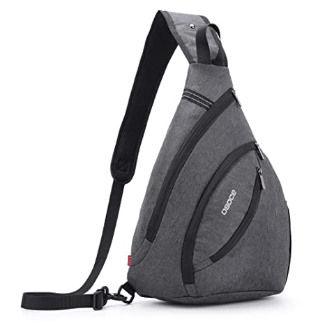 71974742be4f OSOCE Anti-Theft Waterproof Shoulder Backpack Sling Chest Crossbody Bag  Cover Pack Rucksack Bicycle Sport (Dark grey)