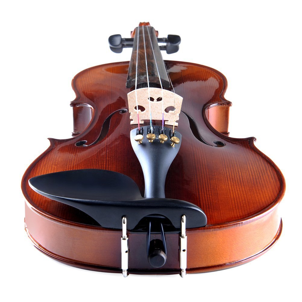 ADM Acoustic Violin 1/2 Size with Hard Case, Beginner Pack for Student, Red Brown by ADM (Image #4)