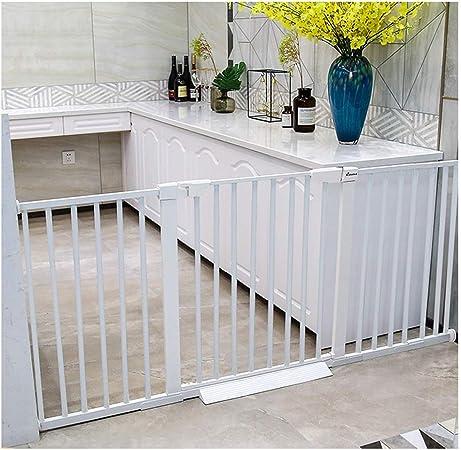 LICHUN Rodamiento Fuerte Barrera De Seguridad Escalera Puerta for Niños Perros Fuerza De Reacción Instalación No Perforando, Ancho Escalable (Color : H75, Size : W131~138cm): Amazon.es: Hogar