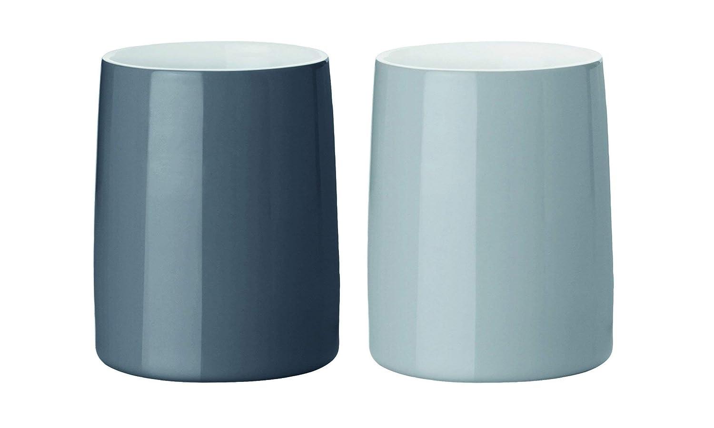 Modello Emma Stelton Tazze Termiche in Porcellana Smaltata ad Un Pezzo Colore: Blu 2 Pezzi