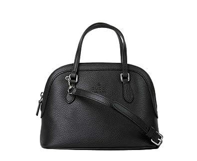 Amazon.com Gucci Women\u0027s Black Leather Small Cross Body