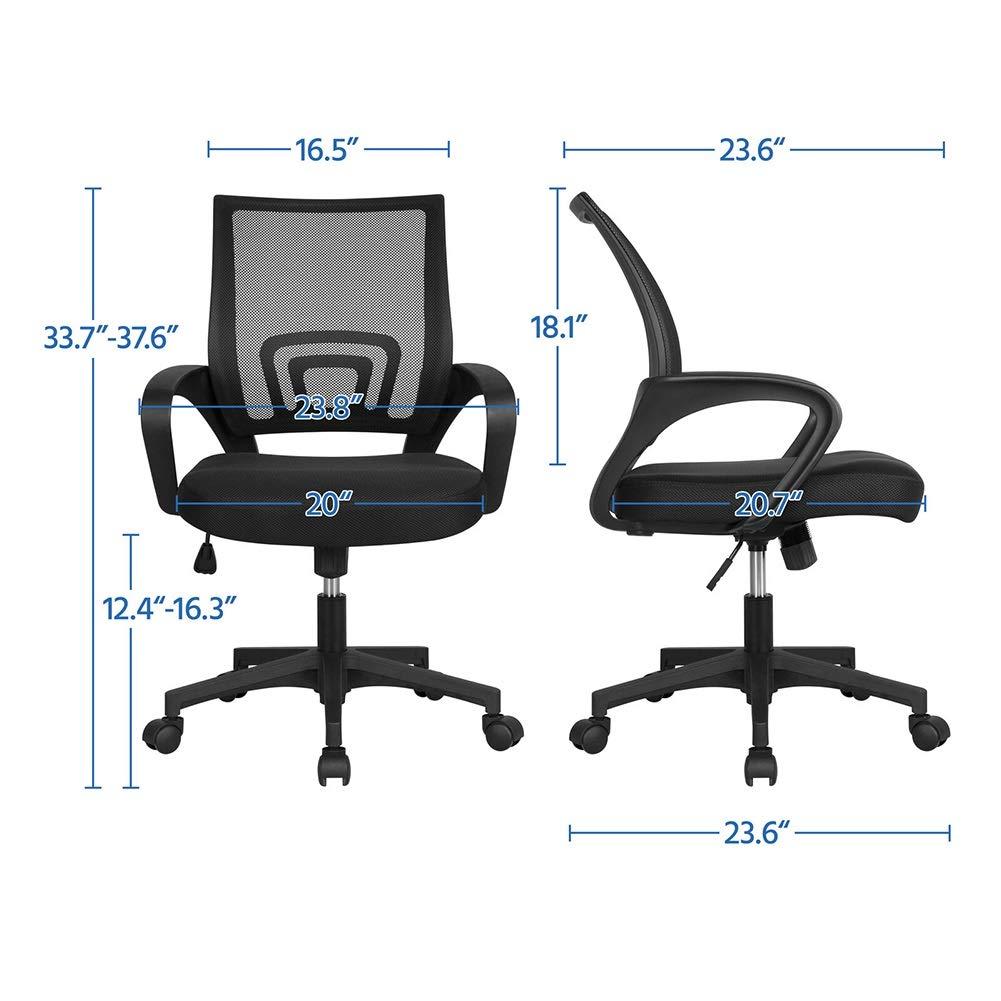 Kontorsstol skrivbordsstol datorstol hem kontor stol personalstol konferensstol student sovsal roterande lyft enkel lat bakstol (färg: svart) Svart