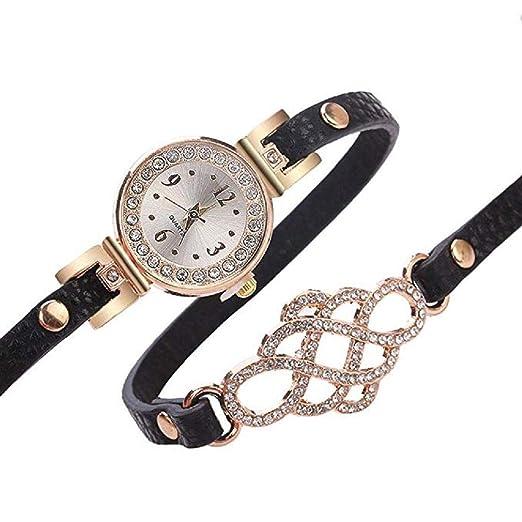Reloj de Pulsera de Cuarzo de Cristal de Lujo de Las Mujeres Ladies
