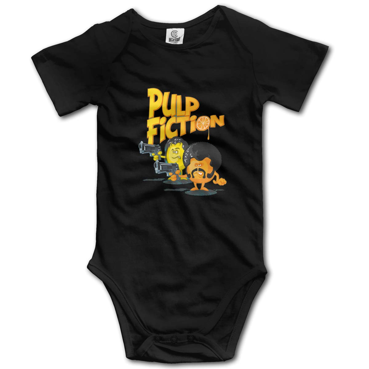 Coollifea Pulp Fiction Baby Romper 0-18 Months Newborn Baby Girls Boys Layette Rompers Black