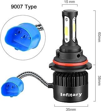 9004//HB1 LED Headlight Bulbs High Low Beam 6500K 72W 8000LM White Conversion Kit