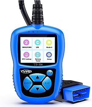 OBDII Fault Code Scanner Vehicle Diagnostics Adatto per Tutti i Veicoli dal 2000 Tvird OBD2 Auto Diagnostica la Scansione Diagnostica Automatica Legge e Cancella il Codice di Errore
