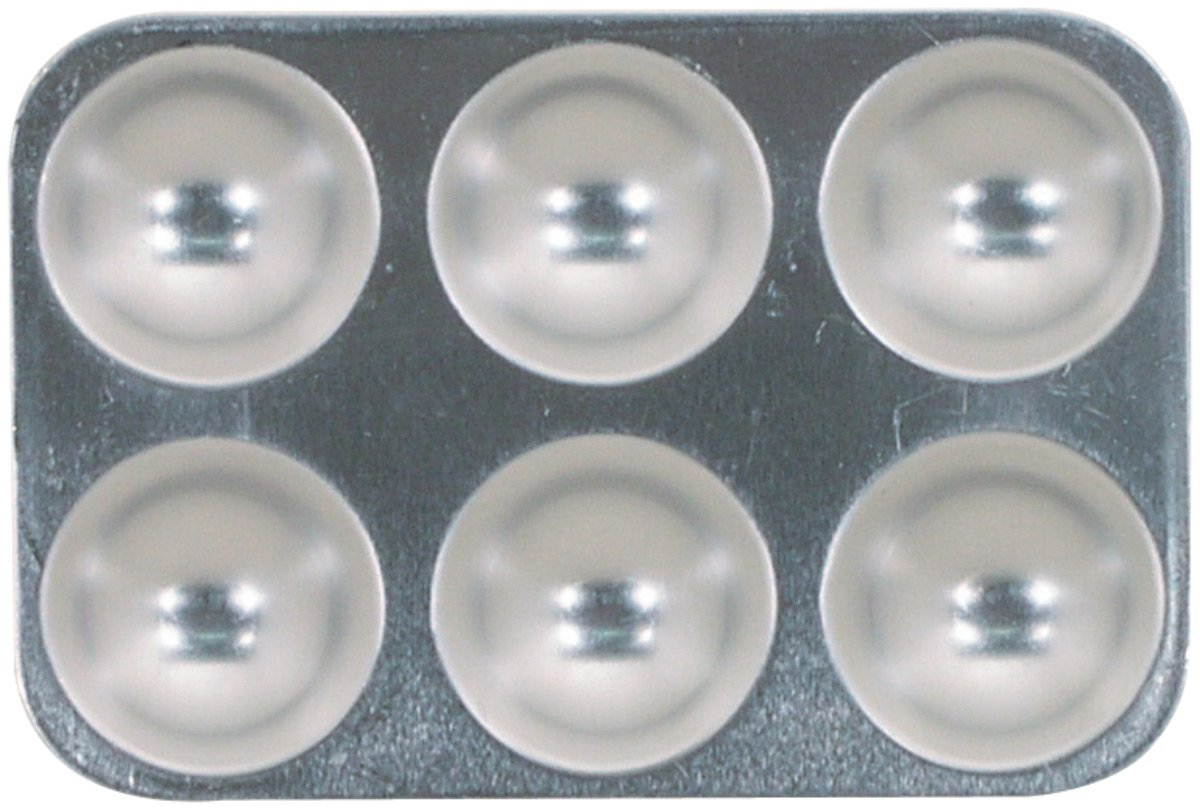Pro Art PRO-6950-10 10 Well Round Aluminum Mix Tray