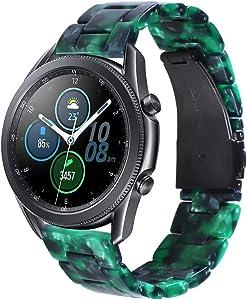 Songsier Compatible con Correa Galaxy Watch 3 45mm/ Gear S3 Frontier/Galaxy Watch 46mm/Gear 2 /Huawei Watch GT2 46mm/Watch GT 46mm/Moto 360, Correa de Repuesto de Resina de 22 mm