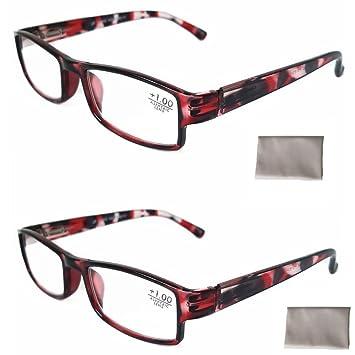 14a87e29676b 2Pack Plastic Tortoise Reading Glasses Women +2.5 Aspheric Lens Spring  Hinge Durable Clearing Cloth Economic