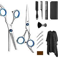 Kit de tijeras profesionales para peluquería de 6,0 pulgadas de tijeras de acero inoxidable 13 Set con tijeras peine…