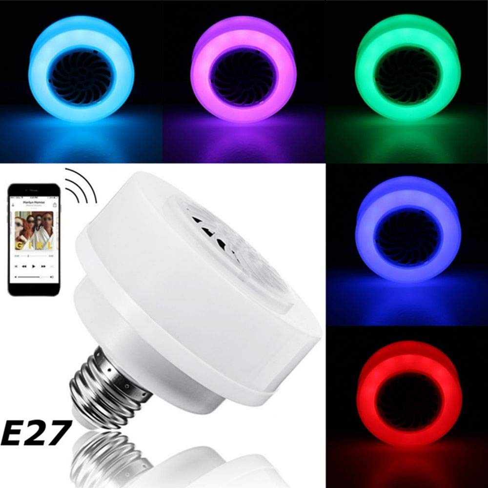 E27 LED Wireless Bluetooth Bulb Light Speaker RGB Music Play Lamp Phone Control okdeals