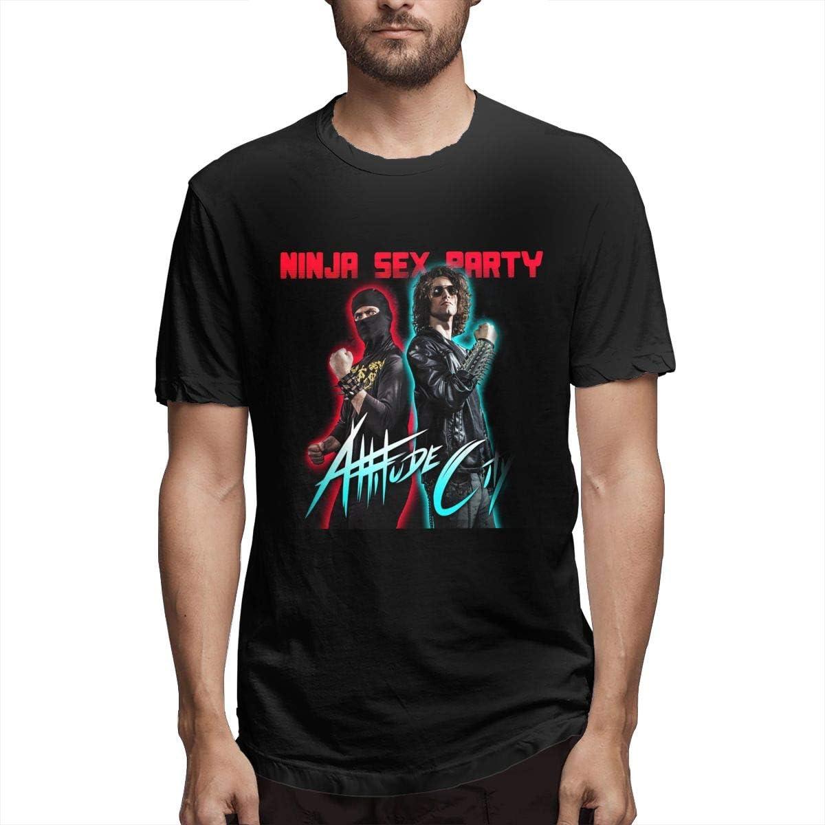 Ninja Sex Party T Shirt Men's Cool Short Sleeves Round Neck T Shirts