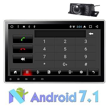 Radio EST¨¦reo del Coche 10.1 Pulgadas 2 DIN Doble Android 7.1 Dual-