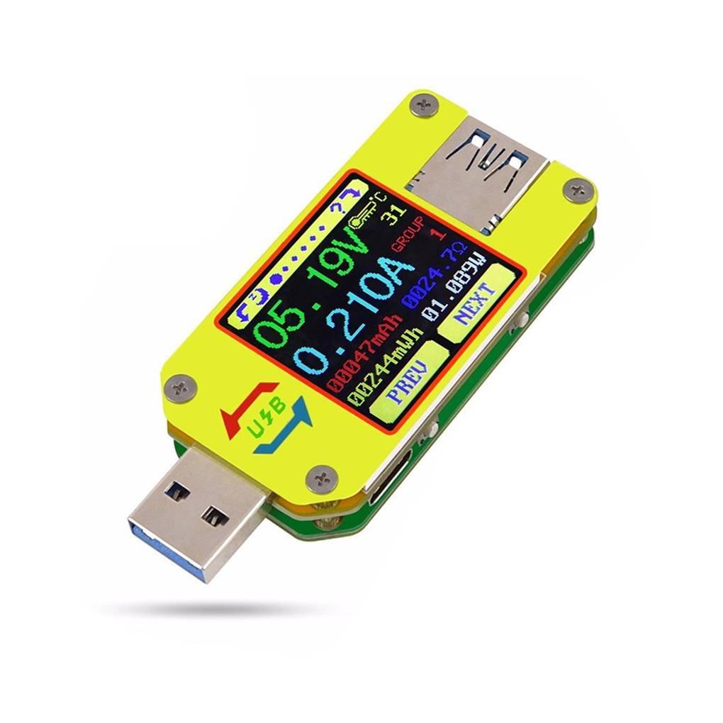 Arichtop UM34 UM34C USB 3.0 Typ-C DC Voltmeter Amperemeter Spannung Stromzä hler Batterielade messen Kabel Resistance Tester
