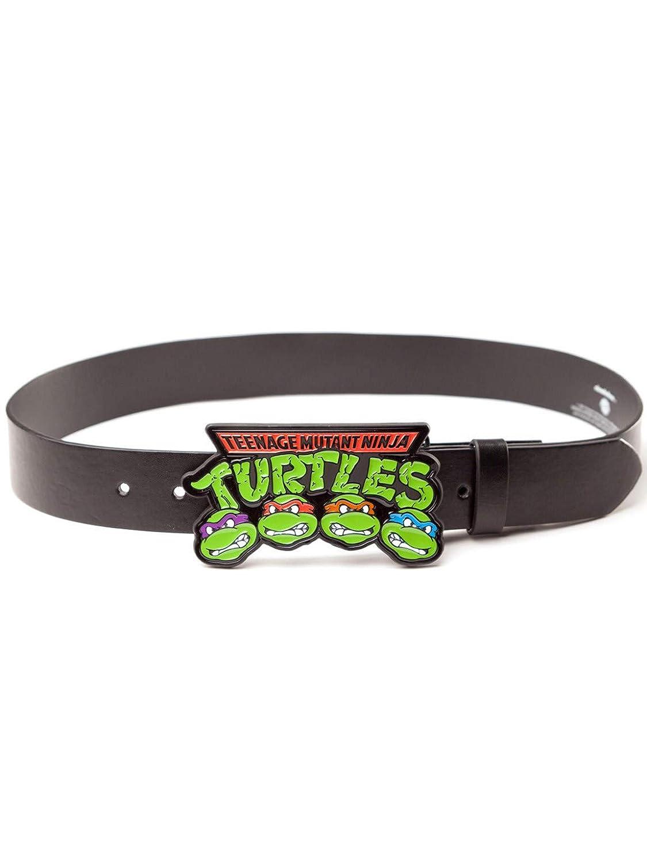 Teenage Mutant Ninja Turtles: Logo Buckle With Black Strap ...