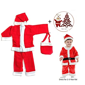 4986093c96a6 Buy HALO NATION Christmas Dress Santa Claus Costume for Children (for Ages  2 to 3 Years) Online at Low Prices in India - Amazon.in