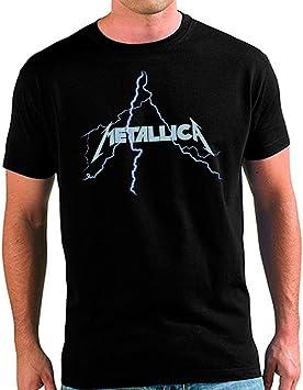 Camiseta Metallica Rayo: Amazon.es: Deportes y aire libre