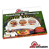 BBQ Dragon Heat Deflecting Grill Stone, Smoking Stone & Pizza Stone for 22' Weber Kettle Grills - Ceramic Grilling Accessory Turns Your Charcoal Grill Into a Smoker or Outdoor Convection Oven