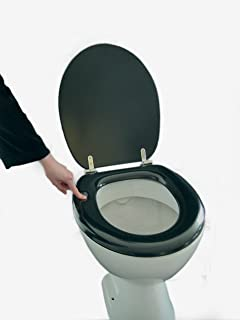 Excellent Heritage Black Soft Close Toilet Seat Blk101Sa Amazon Co Theyellowbook Wood Chair Design Ideas Theyellowbookinfo