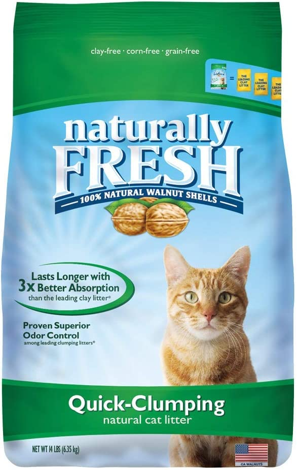 Naturally Fresh Walnut-Based Quick-Clumping Cat Litter, Unscented, 14-lb bag