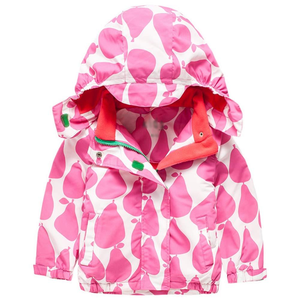 Baby Girls Casual Windbreaker Outerwear Zipper Hooded Brilliant Jackets Coat