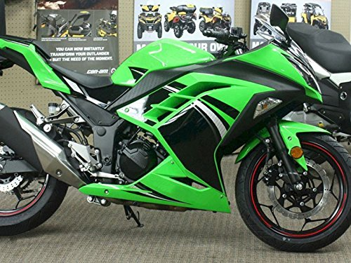 Moto Onfire Green & Black ABS Injection Fairings Kit Fit for Kawasaki Ninja 300 EX300R ZX300R 2013 2014 2015 2016