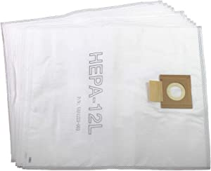 Viper (Nilfisk) VA81399-P10 HEPA SMS Microfibre Dust Bags 12 Litre (Pack of 10) for DSU12, DSU15, White