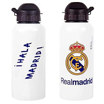Offizielles Real Madrid FC Aluminium Getränke Flasche: Amazon.de ...