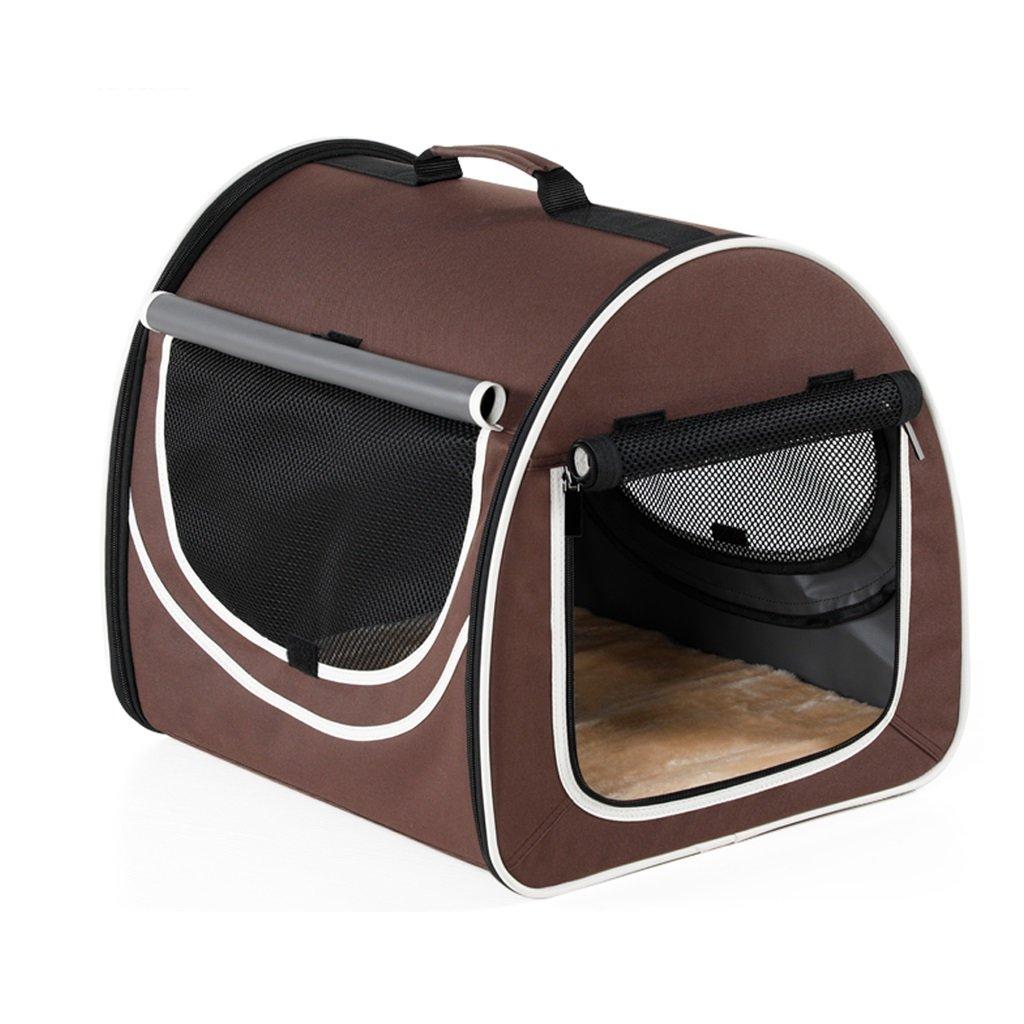 Pet Carrier Astronaut Large Breathable Outdoor Pet Bag Folding Picnic Portable Travel Hiking Mesh Comfortable Handbag Pet Cage Pet Booster Seat Brown(42cmx48cmx41cm) Backpack Capsule Breathable