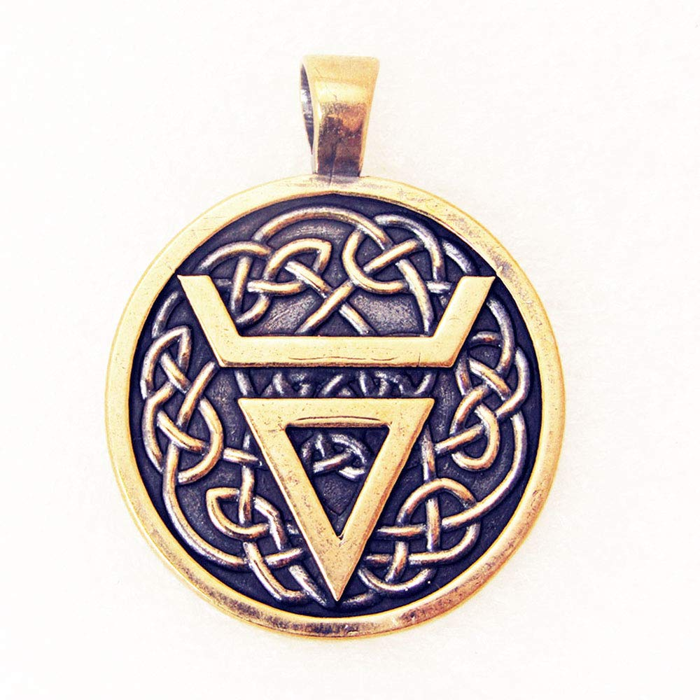 Amulett Velez Gl/ücksbringer Anh/änger Talisman Schutz Charme Alte Bronze Schmuck